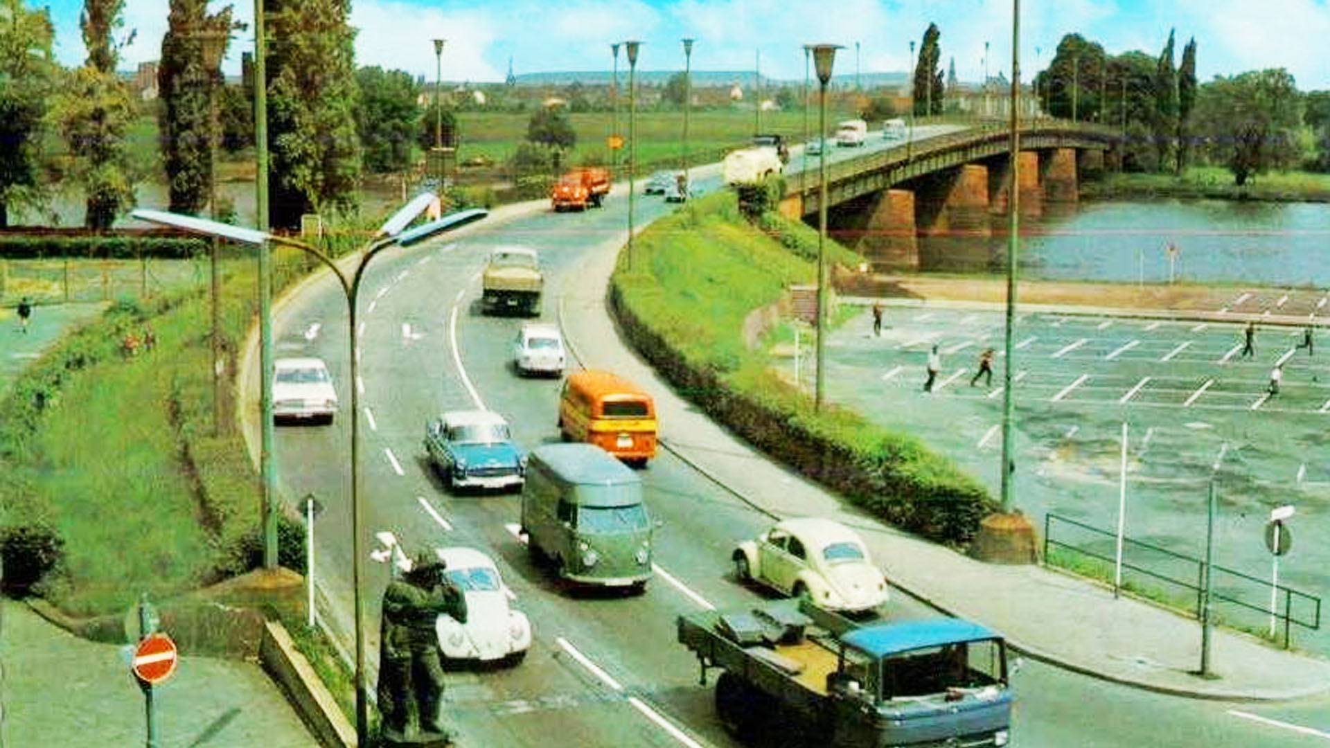 Offenbach Carl-Ulrich-Brücke 60er Jahre