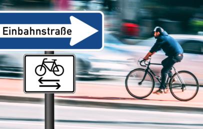 Einbahnstraße Fahrradfahrer Offenbach Bieber freigegeben