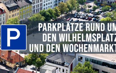 Parkplätze und Parkhäuser Wochenmarkt Wilhelmsplatz Offenbach